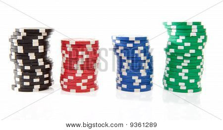 Colorful Poker Casino Chips