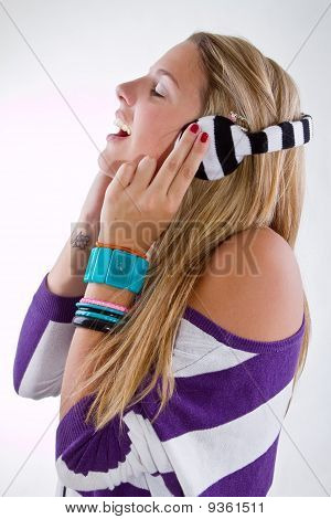 Young Stylish Teenager With Headphones