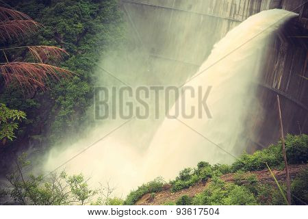 Dam discharge flood waterchina