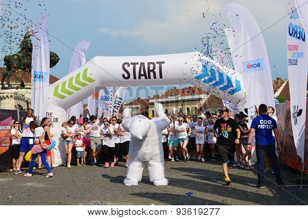 Color Run Start In Cluj-napoca