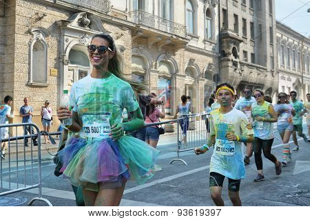 Woman Runner With Tutu