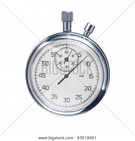Sports Stopwatch Isolated On A White Background