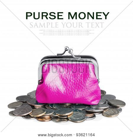 Pink Purse And Coins