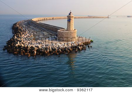 Lighthouse at the Port of Livorno