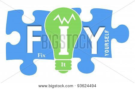 FIY - Fix It Yourself Colorful Shapes