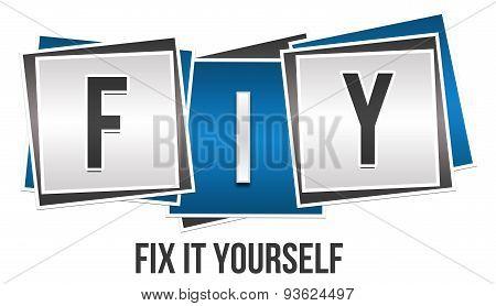FIY - Fix It Yourself Blue Grey Blocks