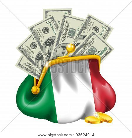 Economics and business purse Italy