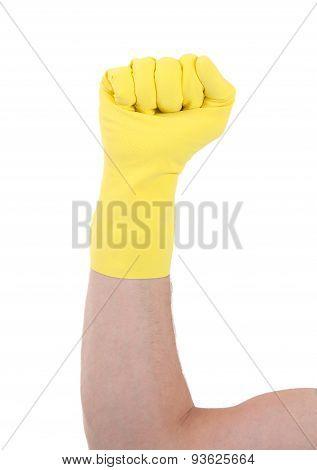 Rubber Glove, Making Fist