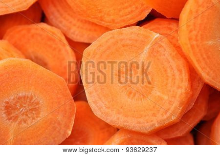 Chopped And Sliced Carrot