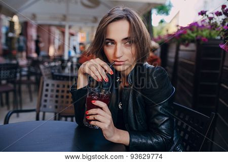 woman drink cocktail