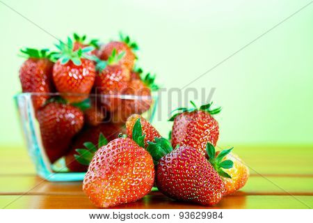 Red Ripe Strawberry On The Table