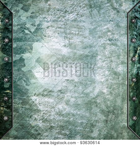 grunge iron plate