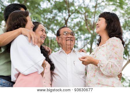 Happy Senior Friends