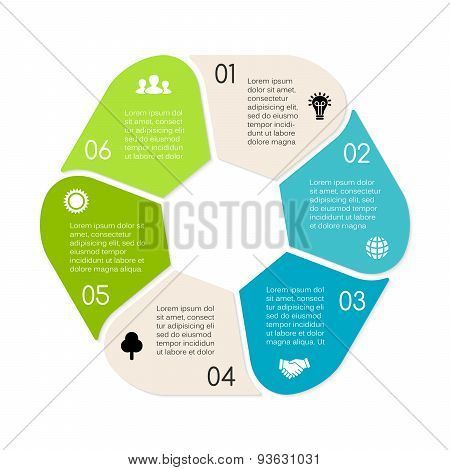Vector linear circle eco infographic. Ecology template for diagram, graph, presentation and chart. E