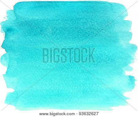 Abstract watercolor hand paint bright blue texture