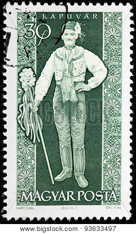Kapuvar Man Stamp