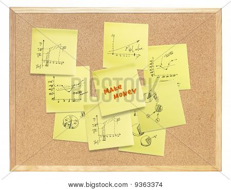 "Popular ""make Money Online"" Slogan, Composed On Cork Board. Isolated, Include Clipping Path."
