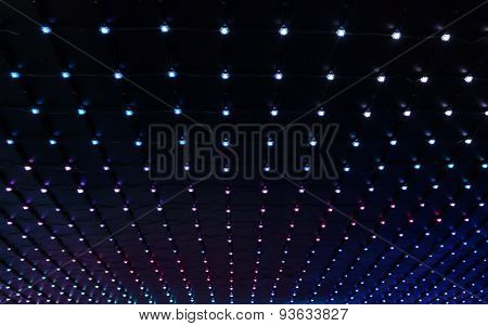 Abstract Background Of Multicolored Led Lights