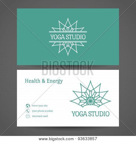 Yoga Studio Vector Business Card Template