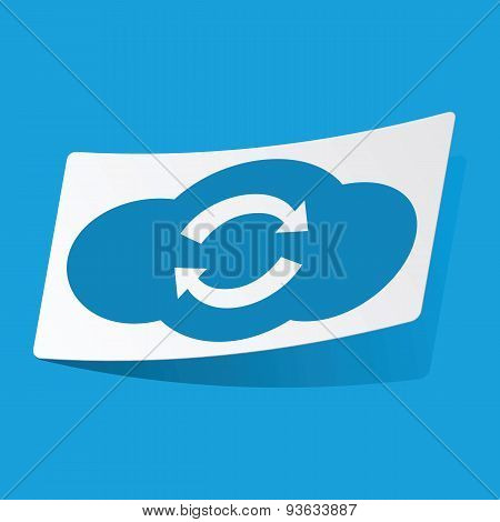 Cloud exchange sticker