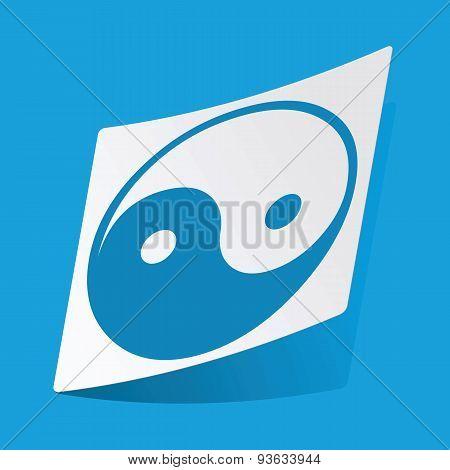 Yin yang sticker