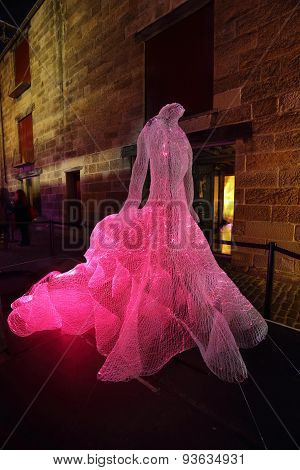 The Dresses Fibre Optic The Rocks At Vivid Sydney