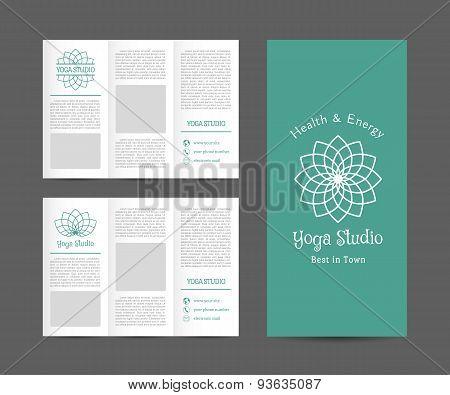 Yoga Studio Vector Brochure Template