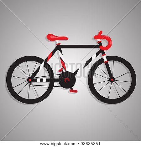BLACK AND RED BIKE