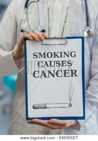 Doctor Is Warning Against Cancer Caused By Smoking