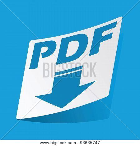 PDF download sticker