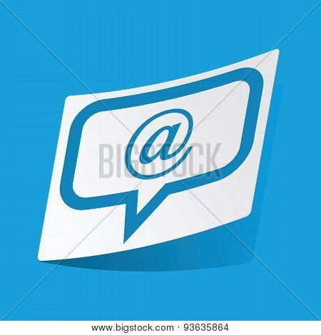 Mail message sticker