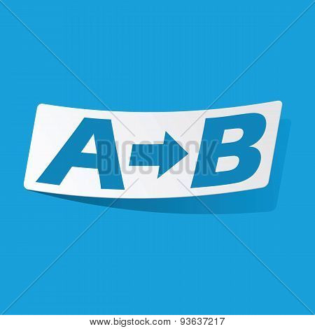 A to B sticker