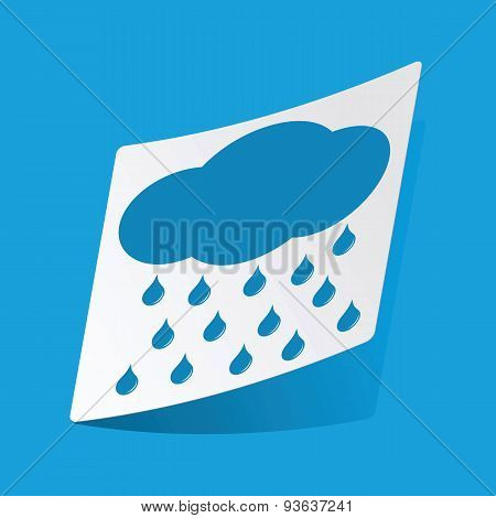 Raining sticker