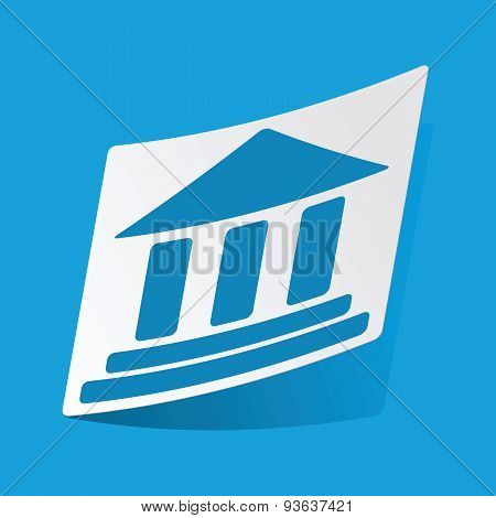 Classical building sticker