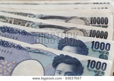 Banknotes Of The Japan.
