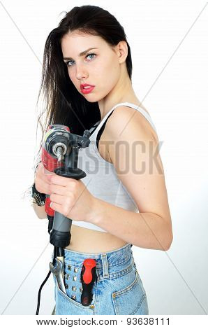 Girl With Driller