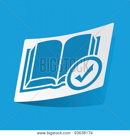 Select book sticker