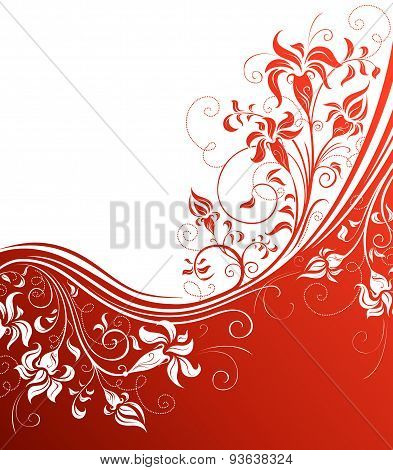 Red Floral Background.