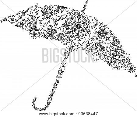 Umbrella Made Of Flowers.
