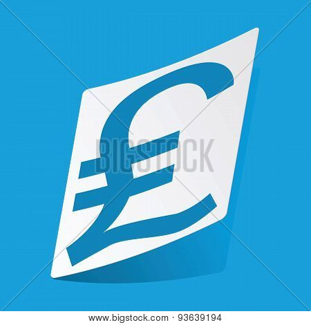 Pound sterling sticker