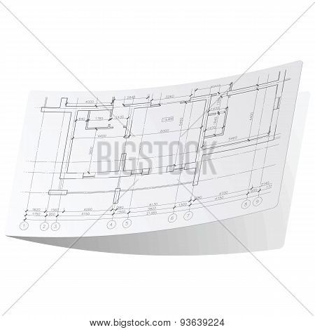 Architecture plan sticker 1