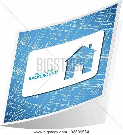 Architecture background sticker 3