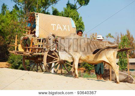 Taxi In Mingun, Myanmar