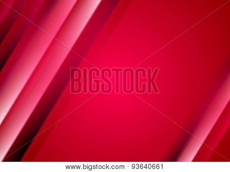 Red crimson abstract blurred stripes background. Vector design