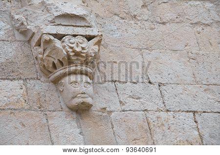 Historical palace. Molfetta. Puglia. Italy.