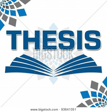 Thesis Text With Book Symbol