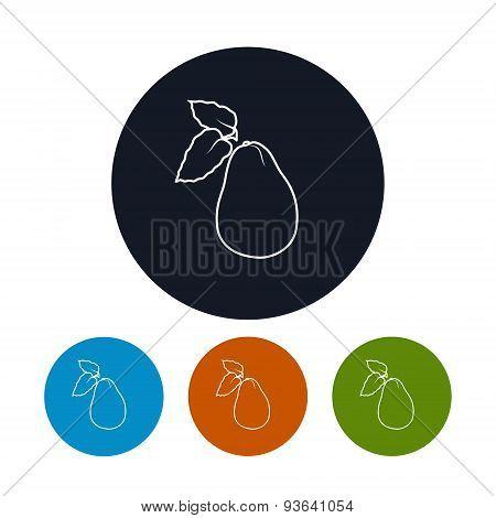 Icon  Avocado In The Contours