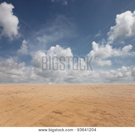Land And Blue Sky.