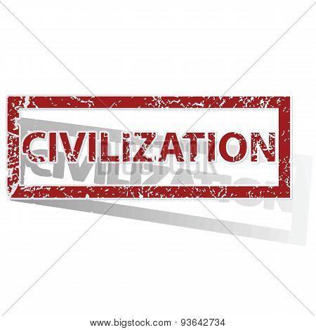 CIVILIZATION outlined stamp