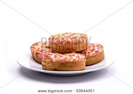 A pile of donuts